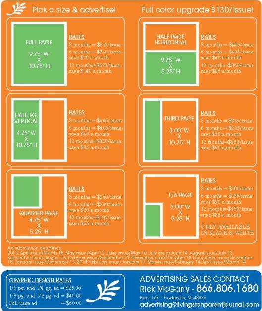 2013 Ad rates